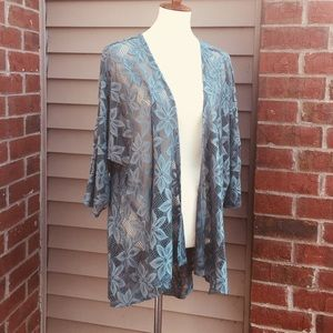 🌱 LULAROE Blue Lace Cardigan 🌱